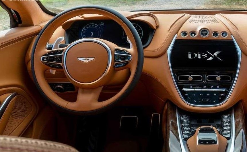 Aston Martin DBX 2020 Review Premium Sporty SUV Steering